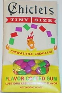 Original Chicklets Tiny Size