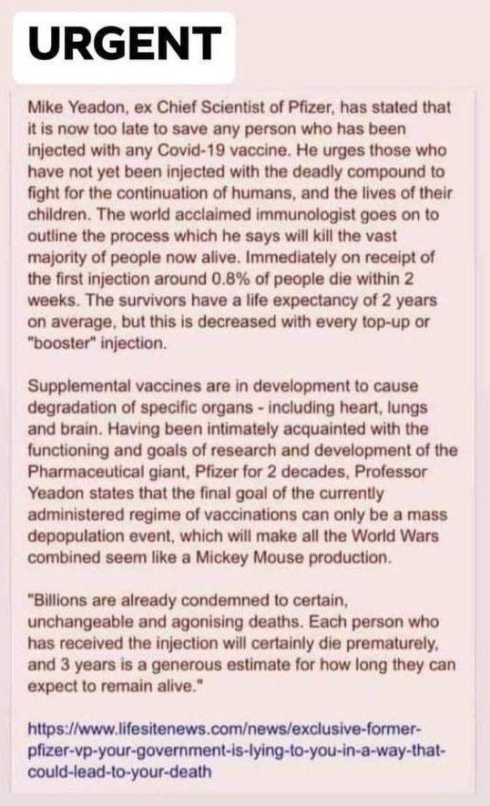 urgent vax